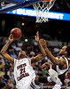 South Carolina forward Dominique Archie attempts to score during the first half of the Mississippi State Bulldogs game against the South Carolina Gamecocks on Friday, March 13, 2009 in the St. Pete Times Forum. / Gator Country photo by Casey Brooke Lawson
