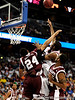 Mississippi State forward Kodi Augustus blocks a South Carolina player during the first half of the Mississippi State Bulldogs game against the South Carolina Gamecocks on Friday, March 13, 2009 in the St. Pete Times Forum. / Gator Country photo by Casey Brooke Lawson