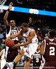 MIssissippi State forward Jarvis Varnado guards a South Carolina player during the first half of the Mississippi State Bulldogs game against the South Carolina Gamecocks on Friday, March 13, 2009 in the St. Pete Times Forum. / Gator Country photo by Casey Brooke Lawson
