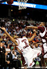 South Carolina guard Devan Downey reaches for the ball during the first half of the Mississippi State Bulldogs game against the South Carolina Gamecocks on Friday, March 13, 2009 in the St. Pete Times Forum. / Gator Country photo by Casey Brooke Lawson