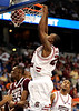 South Carolina Mike Holmes scores during the first half of the Mississippi State Bulldogs game against the South Carolina Gamecocks on Friday, March 13, 2009 in the St. Pete Times Forum. / Gator Country photo by Casey Brooke Lawson