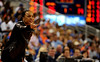 (Casey Brooke Lawson / Gator Country) The Gamecocks Head Coach Dawn Staley motions to her team during the Gators 82 to 64 victory over South Carolina on Sunday, February 22, 2009.