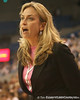 photo by Tim Casey<br /> <br /> Florida head coach Amanda Butler argues with a referee during the Gators' 61-45 win against the Georgia Bulldogs on Sunday, January 18, 2009 at the Stephen C. O'Connell Center in Gainesville, Fla.