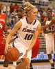 photo by Tim Casey<br /> <br /> Florida junior guard Steffi Sorensen looks to pass after grabbing an offensive rebound during the Gators' 61-45 win against the Georgia Bulldogs on Sunday, January 18, 2009 at the Stephen C. O'Connell Center in Gainesville, Fla.