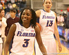 photo by Tim Casey<br /> <br /> Florida senior guard Sha Brooks walks off of the court after the Gators' 61-45 win against the Georgia Bulldogs on Sunday, January 18, 2009 at the Stephen C. O'Connell Center in Gainesville, Fla.