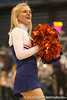 photo by Tim Casey<br /> <br /> A Florida cheerleader performs during the Gators' 61-45 win against the Georgia Bulldogs on Sunday, January 18, 2009 at the Stephen C. O'Connell Center in Gainesville, Fla.