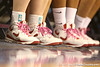 photo by Tim Casey<br /> <br /> Georiga players wore pink shoelaces during the Gators' 61-45 win against the Bulldogs on Sunday, January 18, 2009 at the Stephen C. O'Connell Center in Gainesville, Fla.