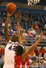photo by Tim Casey<br /> <br /> Florida senior center Aneika Henry shoots a jump shot during the Gators' 61-45 win against the Georgia Bulldogs on Sunday, January 18, 2009 at the Stephen C. O'Connell Center in Gainesville, Fla.