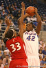 photo by Tim Casey<br /> <br /> Florida senior center Aneika Henry attempts a jumpshot during the Gators' 61-45 win against the Georgia Bulldogs on Sunday, January 18, 2009 at the Stephen C. O'Connell Center in Gainesville, Fla.