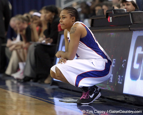 photo by Tim Casey<br /> <br /> Florida freshman guard Trumae Lucas waits to check into the game during the Gators' 61-45 win against the Georgia Bulldogs on Sunday, January 18, 2009 at the Stephen C. O'Connell Center in Gainesville, Fla.