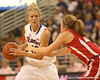 photo by Tim Casey<br /> <br /> Florida junior guard Steffi Sorensen looks to pass during the Gators' 61-45 win against the Georgia Bulldogs on Sunday, January 18, 2009 at the Stephen C. O'Connell Center in Gainesville, Fla.