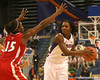 photo by Tim Casey<br /> <br /> Florida senior guard Sha Brooks looks to pass during the Gators' 61-45 win against the Georgia Bulldogs on Sunday, January 18, 2009 at the Stephen C. O'Connell Center in Gainesville, Fla.