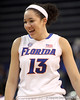 photo by Tim Casey<br /> <br /> Florida freshman center Azania Stewart celebrates with 25 second left during the Gators' 61-45 win against the Georgia Bulldogs on Sunday, January 18, 2009 at the Stephen C. O'Connell Center in Gainesville, Fla.