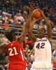 photo by Tim Casey<br /> <br /> Florida senior center Aneika Henry takes a jumpshot during the Gators' 61-45 win against the Georgia Bulldogs on Sunday, January 18, 2009 at the Stephen C. O'Connell Center in Gainesville, Fla.