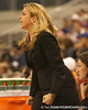 photo by Tim Casey<br /> <br /> Florida head coach Amanda Butler yells out to her team during the Gators' 61-45 win against the Georgia Bulldogs on Sunday, January 18, 2009 at the Stephen C. O'Connell Center in Gainesville, Fla.