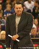 photo by Tim Casey<br /> <br /> Georgia coach Andy Landers walks off of the court during hafltime of the Gators' 61-45 win against the Bulldogs on Sunday, January 18, 2009 at the Stephen C. O'Connell Center in Gainesville, Fla.