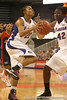 photo by Tim Casey<br /> <br /> Florida freshman guard Trumae Lucas attempts a layup during the Gators' 75-54 win against the Mississippi Rebels on Sunday, January 25, 2009 at the Stephen C. O'Connell Center in Gainesville, Fla.