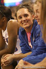 photo by Tim Casey<br /> <br /> Florida junior guard Jennifer Mossor smiles on the bench during the Gators' 75-54 win against the Mississippi Rebels on Sunday, January 25, 2009 at the Stephen C. O'Connell Center in Gainesville, Fla.