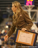 photo by Tim Casey<br /> <br /> Florida head coach Amanda Butler speaks to her team with 3:13 remaining during the Gators' 75-54 win against the Mississippi Rebels on Sunday, January 25, 2009 at the Stephen C. O'Connell Center in Gainesville, Fla.
