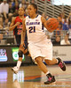 photo by Tim Casey<br /> <br /> Florida freshman guard Trumae Lucas dribbles the ball during the Gators' 75-54 win against the Mississippi Rebels on Sunday, January 25, 2009 at the Stephen C. O'Connell Center in Gainesville, Fla.