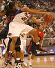 photo by Tim Casey<br /> <br /> Florida freshman guard Trumae Lucas grabs an offensive rebound during the Gators' 75-54 win against the Mississippi Rebels on Sunday, January 25, 2009 at the Stephen C. O'Connell Center in Gainesville, Fla.