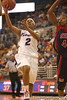 photo by Tim Casey<br /> <br /> Florida junior guard Lonnika Thompson misses a layup with nine seconds remaining during the first half of the Gators' 75-54 win against the Mississippi Rebels on Sunday, January 25, 2009 at the Stephen C. O'Connell Center in Gainesville, Fla.