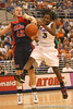 photo by Tim Casey<br /> <br /> Florida senior guard Sha Brooks chases a loose ball during the Gators' 75-54 win against the Mississippi Rebels on Sunday, January 25, 2009 at the Stephen C. O'Connell Center in Gainesville, Fla.