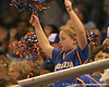 photo by Tim Casey<br /> <br /> A Florida fan cheers during the Gators' 75-54 win against the Mississippi Rebels on Sunday, January 25, 2009 at the Stephen C. O'Connell Center in Gainesville, Fla.