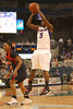 photo by Tim Casey<br /> <br /> Florida senior guard Sha Brooks attempts a three-point shot during the Gators' 75-54 win against the Mississippi Rebels on Sunday, January 25, 2009 at the Stephen C. O'Connell Center in Gainesville, Fla.