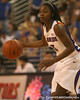 photo by Tim Casey<br /> <br /> Florida senior guard Sha Brooks dribbles around the perimeter during the Gators' 75-54 win against the Mississippi Rebels on Sunday, January 25, 2009 at the Stephen C. O'Connell Center in Gainesville, Fla.