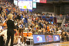photo by Tim Casey<br /> <br /> Florida fans remain standing through the first five minutes of the Gators' 75-54 win against the Mississippi Rebels on Sunday, January 25, 2009 at the Stephen C. O'Connell Center in Gainesville, Fla.
