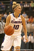 photo by Tim Casey<br /> <br /> Florida junior guard Steffi Sorensen looks to pass during the Gators' 75-54 win against the Mississippi Rebels on Sunday, January 25, 2009 at the Stephen C. O'Connell Center in Gainesville, Fla.
