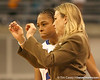 photo by Tim Casey<br /> <br /> Florida freshman guard Trumae Lucas listens to head coach Amanda Butler during the Gators' 75-54 win against the Mississippi Rebels on Sunday, January 25, 2009 at the Stephen C. O'Connell Center in Gainesville, Fla.