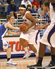photo by Tim Casey<br /> <br /> Florida junior guard Lonnika Thompson makes a move to the basket during the second half of the Gators' 74-59 win against the Kentucky Wildcats on Thursday, January 29, 2009 at the Stephen C. O'Connell Center in Gainesville, Fla.