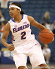 photo by Tim Casey<br /> <br /> Florida junior guard Lonnika Thompson dribbles around the arc during the second half of the Gators' 74-59 win against the Kentucky Wildcats on Thursday, January 29, 2009 at the Stephen C. O'Connell Center in Gainesville, Fla.