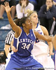 photo by Tim Casey<br /> <br /> Florida junior guard Steffi Sorensen plays defense during the second half of the Gators' 74-59 win against the Kentucky Wildcats on Thursday, January 29, 2009 at the Stephen C. O'Connell Center in Gainesville, Fla.