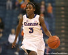 photo by Tim Casey<br /> <br /> Florida senior guard Sha Brooks brings the ball upcourt during the second half of the Gators' 74-59 win against the Kentucky Wildcats on Thursday, January 29, 2009 at the Stephen C. O'Connell Center in Gainesville, Fla.