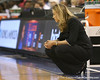 photo by Tim Casey<br /> <br /> Florida head coach Amanda Butler watches from the sideline during the second half of the Gators' 74-59 win against the Kentucky Wildcats on Thursday, January 29, 2009 at the Stephen C. O'Connell Center in Gainesville, Fla.