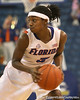 photo by Tim Casey<br /> <br /> Florida senior guard Sha Brooks makes a move during the second half of the Gators' 74-59 win against the Kentucky Wildcats on Thursday, January 29, 2009 at the Stephen C. O'Connell Center in Gainesville, Fla.