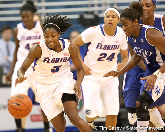 photo by Tim Casey<br /> <br /> Florida senior guard Sha Brooks runs after making a steal during the second half of the Gators' 74-59 win against the Kentucky Wildcats on Thursday, January 29, 2009 at the Stephen C. O'Connell Center in Gainesville, Fla.
