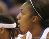 photo by Tim Casey<br /> <br /> Florida sophomore center Ebonie Crawford watches from the bench during the second half of the Gators' 74-59 win against the Kentucky Wildcats on Thursday, January 29, 2009 at the Stephen C. O'Connell Center in Gainesville, Fla.