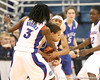 photo by Tim Casey<br /> <br /> Florida junior guard Lonnika Thompson forces a jump ball during the second half of the Gators' 74-59 win against the Kentucky Wildcats on Thursday, January 29, 2009 at the Stephen C. O'Connell Center in Gainesville, Fla.