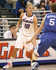photo by Tim Casey<br /> <br /> Florida junior guard Steffi Sorensen dribbles down the sideline during the second half of the Gators' 74-59 win against the Kentucky Wildcats on Thursday, January 29, 2009 at the Stephen C. O'Connell Center in Gainesville, Fla.