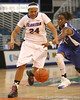 photo by Tim Casey<br /> <br /> Florida junior forward Sharielle Smith chases a loose ball during the second half of the Gators' 74-59 win against the Kentucky Wildcats on Thursday, January 29, 2009 at the Stephen C. O'Connell Center in Gainesville, Fla.