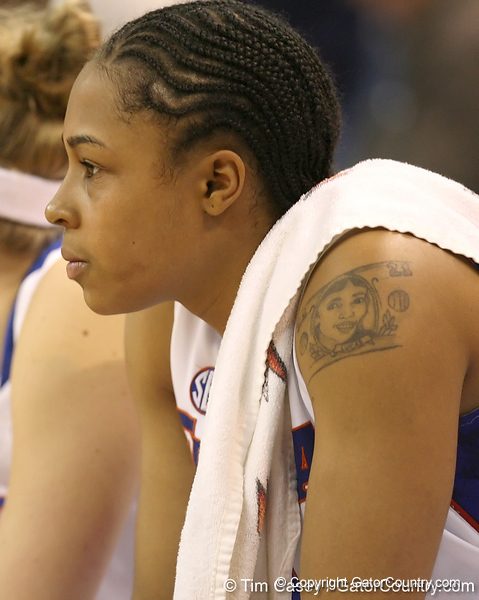 photo by Tim Casey<br /> <br /> Florida freshman guard Trumae Lucas watches from the bench during the second half of the Gators' 74-59 win against the Kentucky Wildcats on Thursday, January 29, 2009 at the Stephen C. O'Connell Center in Gainesville, Fla.