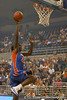 "photo by Tim Casey<br /> <br /> Aneika Henry goes up for a dunk during ""Shooting With the Stars,"" a basketball fan appreciation event, on Friday, October 24, 2008 at the Stephen C. O'Connell Center in Gainesville, Fla."