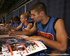 "photo by Tim Casey<br /> <br /> Dan Werner signs autographs during ""Shooting With the Stars,"" a basketball fan appreciation event, on Friday, October 24, 2008 at the Stephen C. O'Connell Center in Gainesville, Fla."