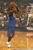 "photo by Tim Casey<br /> <br /> Erving Walker shoots for a 3-point basket during ""Shooting With the Stars,"" a basketball fan appreciation event, on Friday, October 24, 2008 at the Stephen C. O'Connell Center in Gainesville, Fla."
