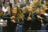 "photo by Tim Casey<br /> <br /> Florida Dazzlers perform during ""Shooting With the Stars,"" a basketball fan appreciation event, on Friday, October 24, 2008 at the Stephen C. O'Connell Center in Gainesville, Fla."