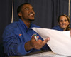 """photo by Tim Casey<br /> <br /> Jai Lucas signs autographs during """"Shooting With the Stars,"""" a basketball fan appreciation event, on Friday, October 24, 2008 at the Stephen C. O'Connell Center in Gainesville, Fla."""